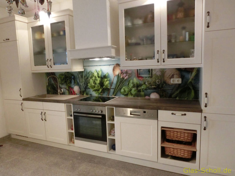 Küchenspritzschutz, Spiegelfliesen, Küchenrückwand von Glas ...